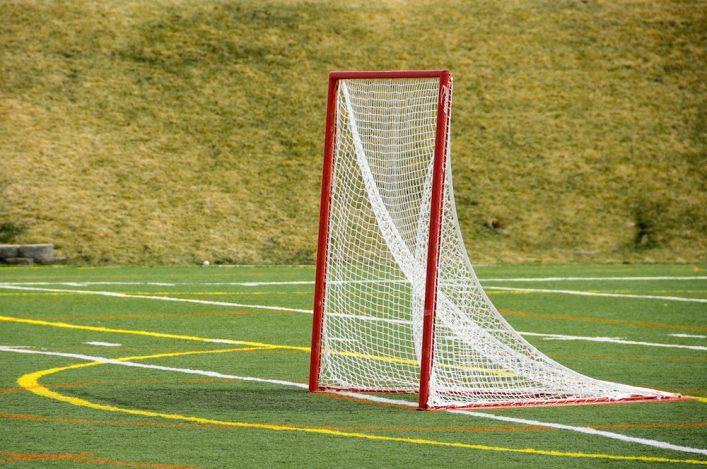 Lacrosse Net on a Turf Field