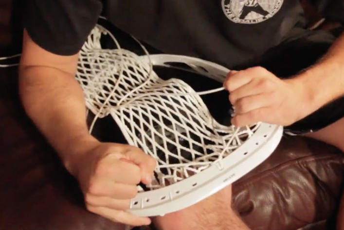 How to string a lacrosse goalie head