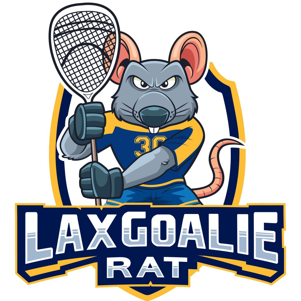 Lax Goalie Rat Logo
