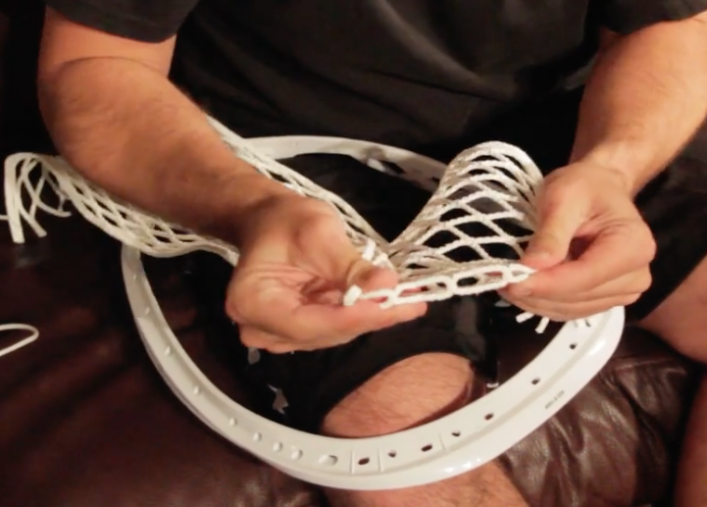 String Lacrosse Goalie Head