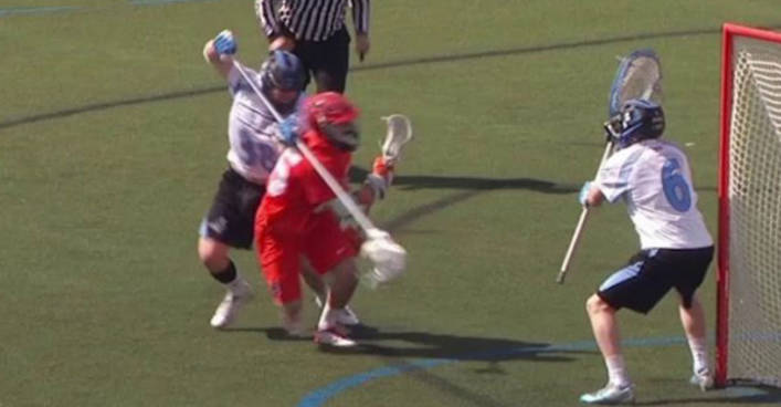 Lacrosse Inside Roll From X