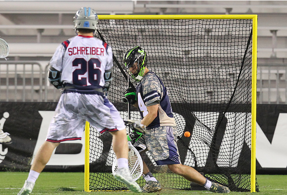 Lacrosse Goalie Giving Up Goal