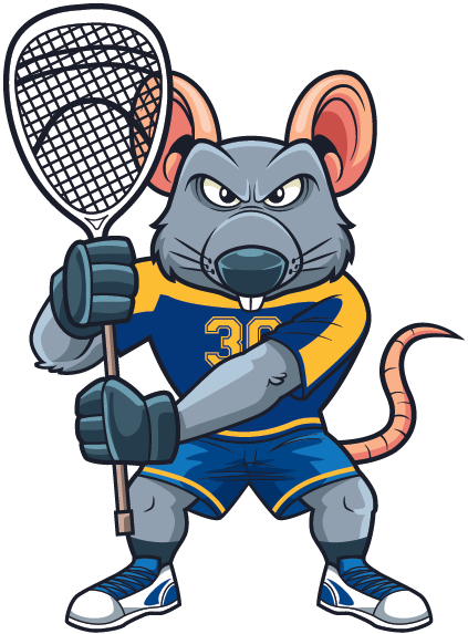 Lax Goalie Rat Mascot