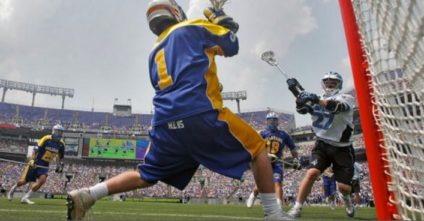 Pipe to Pipe Arc Play for Lacrosse Goalies