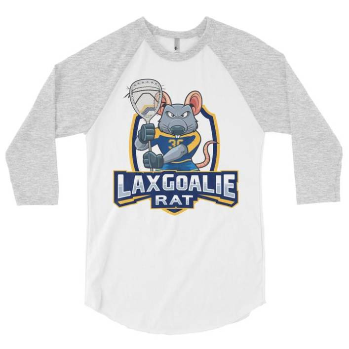Lax Goalie Rat 3/4 Baseball Shirt