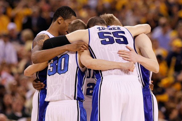 Duke Basketball Huddle