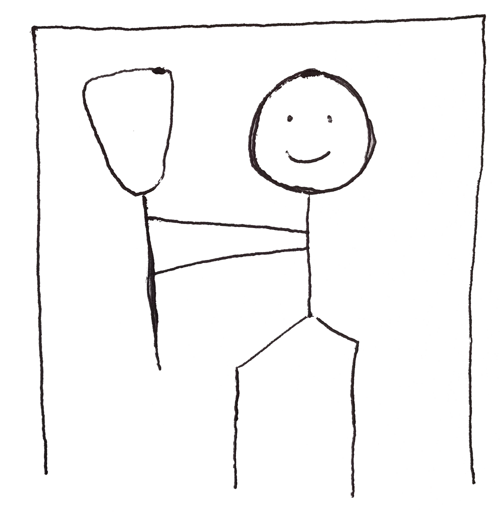 Lacrosse Goalie Stick Figure